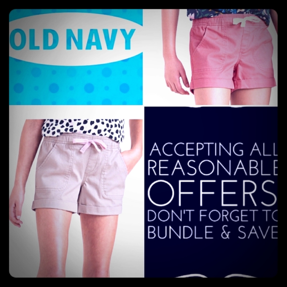 Old Navy Other - Girls Shorts Old Navy 2 Pair, Pink, khaki